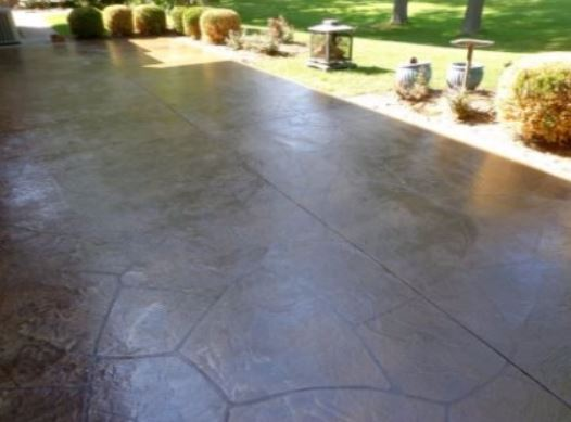 a picture of a concrete slab in manteca, ca