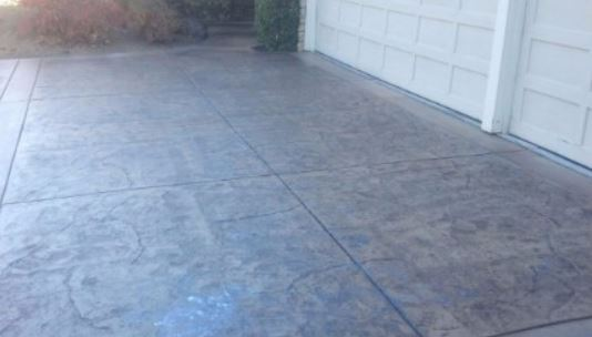 a picture of a concrete staining project in manteca, ca