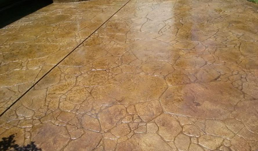 a picture a stained concrete foundation in manteca, ca