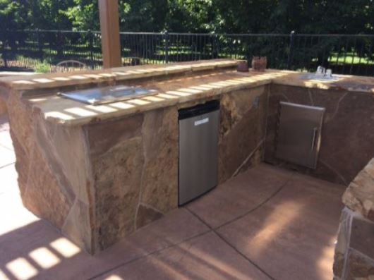 a picture of a outdoor kitchen masonry remodel in manteca, ca