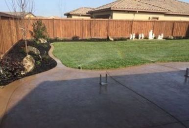 this is a picture of manteca landscapers work done.
